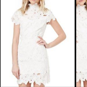JOA Los Angeles Lace Floral Dress Daily Look